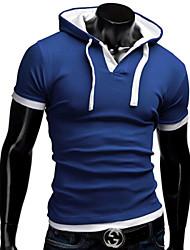MEN - T-shirt - Informale Felpa con cappuccio - Maniche corte Misto cotone