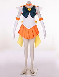 Недорогие -Вдохновлен Sailor Moon Sailor Uranus видео Игра Косплэй костюмы Косплей Костюмы Пэчворк Платье / Головные уборы / Перчатки Костюмы на Хэллоуин