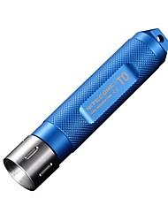 T0 Torce LED Torce a portachiavi LED 12 Lumens Modo LED Batterie non incluse Resistente agli urti Impugnatura antiscivolo Impermeabile