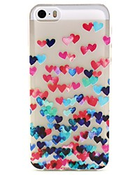 cheap -DE JI Case For iPhone 7 / iPhone 7 Plus / iPhone 5 iPhone 5 Case Transparent / Pattern Back Cover Heart Soft TPU for iPhone 7 Plus / iPhone 7 / iPhone SE / 5s