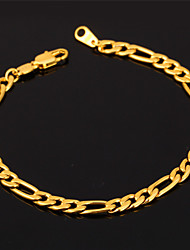 cheap -U7® High Quality 18K Gold Filled Figaro Chain Bracelet For Men or Women 4MM 19.5CM Jewelry Christmas Gifts