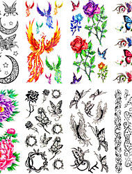 cheap -12 Non Toxic Pattern Waterproof Animal Series Flower Series Others Tattoo Stickers