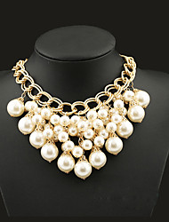 Women's Statement Necklaces Pearl Alloy Fashion Statement Jewelry Screen Color Jewelry Special Occasion Birthday Gift