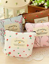 cheap -Cute Pastorable Floral Flower Canvas Zipper Bag Coin Pouch Fabric Pencil Case