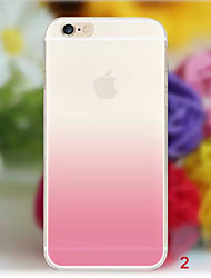 Per iPhone X iPhone 8 iPhone 8 Plus iPhone 6 iPhone 6 Plus Custodie cover Transparente Custodia posteriore Custodia Colore graduale e