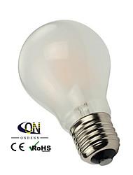 E26/E27 LED Filament Bulbs A60(A19) 6 COB 600lm Warm White 2800-3200K Dimmable AC 220-240 AC 110-130V