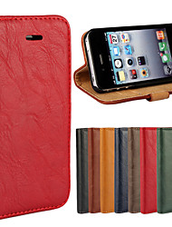 abordables -Para iPhone 8 iPhone 8 Plus Carcasa Funda Cuerpo Entero Funda Dura Cuero Auténtico para iPhone 8 Plus iPhone 8 iPhone 4s/4