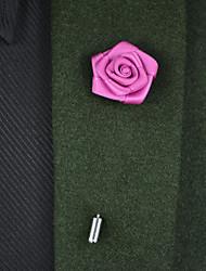 """Недорогие -Свадебные цветы Бутоньерки Satin Металл 22 см 3,15""""(около 8см)"""