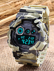 cheap -Men's Military Fashion Sport Watch Japanese Quartz Digital LED/Calendar/Chronograph/Water Resistant/Alarm (Assorted Colors) Cool Watch Unique Watch