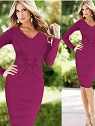 abordables -Robes ( Coton mélangé ) Bodycon/Informel/Soirée/Travail Femme