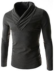 economico -MEN - T-shirt - Informale Dolcevita - Maniche lunghe Cotone organicp