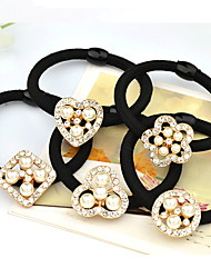 Imitation Pearl Fabric Alloy Hair Tie,Vintage Cute Party Work Casual All Seasons