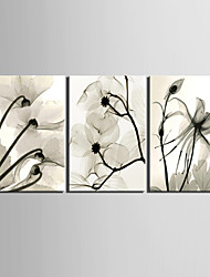 cheap -E-HOME® Stretched Canvas Art Flower Decoration Painting Set of 3