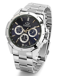cheap -CHENXI® Men's Simple Design Dress Watch Japanese Quartz Water Resistant Silver Steel Strap Cool Watch Unique Watch