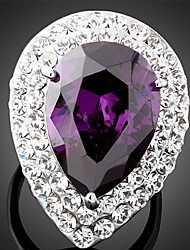 cheap -Women's Cubic Zirconia Statement Ring - Fashion Purple Ring For Party