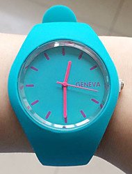 baratos -Mulheres Relógio de Moda Chinês Azulejo Outro Banda Relógio de Pulso Preta / Branco / Azul