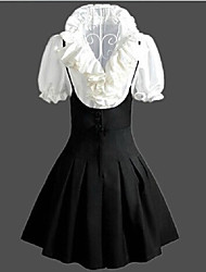 cheap -Sweet Lolita Dress Vintage Inspired Women's Skirt Cosplay Sleeveless Medium Length Halloween Costumes