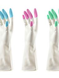 latex vask op vandtæt køkken parabol rengøring handsker (farve tilfældigt) 16x9cm