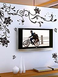 Недорогие -стикеры стены Наклейки на стены, стиль черный цветок винограда пвх наклейки