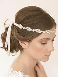 cheap -The New Bride High-Grade Pan Head Hair Pure Manual White Single Strands Of Hair Band