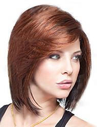 Недорогие -Парики из искусственных волос Коричневый Стрижка боб Темно-коричневый Искусственные волосы Жен. Коричневый Парик Короткие