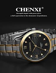 CHENXI® Pánské Náramkové hodinky Křemenný Japonské Quartz Nerez Kapela Stříbro Zlatá Bílá Černá