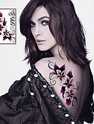 cheap -Sexy Flowers Tattoo Stickers Temporary Tattoos(1 Pc)