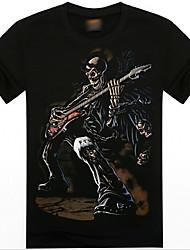 T-Shirts ( Bomulds Blanding ) MEN - Casual/Tryk Rund - Kort Ærmet