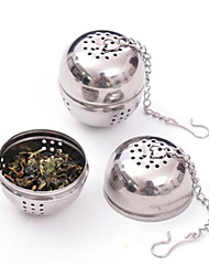 cheap -Stainless Steel Tea Infuser Strainer Mesh Filter Locking Spice Ball 8.5x4.5x4cm