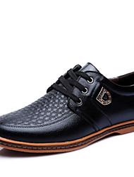 Homme Chaussures Cuir Printemps Eté Automne Hiver Confort Oxfords Lacet Pour Décontracté Soirée & Evénement Noir Marron