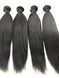 cheap -Brazilian Hair Straight / Classic Virgin Human Hair Natural Color Hair Weaves Human Hair Weaves Human Hair Extensions