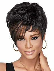 cheap -High-quality European and American Fashion High-quality Hair Synthetic Wigs High Temperature Wire Fashion Short wigs