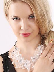 povoljno -Žene Kristal Izjava Ogrlice - Statement Slatka Style Moda Europska Crn Sive boje Plava Svjetloplav Svijetlo zelena Ogrlice Za Party