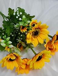 """14,5 """"Ja set 1 sunčanih 15 glava suncokreta svilene tkanine cvijeće"""