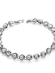 abordables -Mujer Tenis pulseras Cristal Cristal Legierung Diseño Único Moda Estilo Simple Joyas Joyas 1 pieza