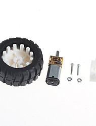 cheap -Geared Motors With Robot Rubber Tire Wheel Bracket (6V100 turn)