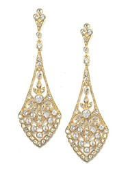 A perfect wedding chandelier Rhinestones Long Vintage Dangle Brides Bridesmaids Wedding Party Earring