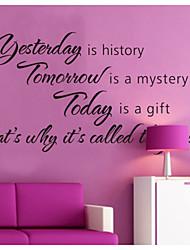 Jučer je povijest uređenje doma zidne naljepnice zooyoo8138 dekorativne zidne naljepnice prijenosnih vinil
