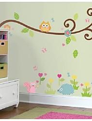 šarene sova stablo zidne naljepnice za djecu sobi zooyoo1004 dekorativne PVC zidne naljepnice udaljiti kućne dekoracije