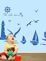 economico -wall stickers da parete in stile decalcomanie adesivi murali parole inglesi mare pvc