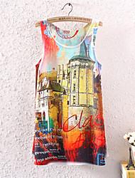 cheap -Women's Cotton Polyester T-shirt Print