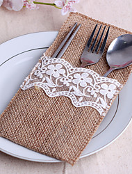 cheap -Jute Table Center Pieces - Non-personalized Table Runners Bowknot 10