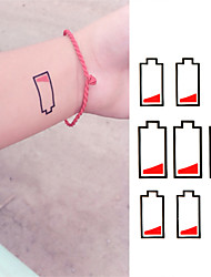 Battery in Low-level Tattoo Stickers Temporary Tattoos(1 Pc)