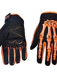 abordables -Gants de moto Doigt complet Nylon/Lycra/ABS M/L/XL Vert/Bleu/Orange