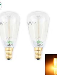 abordables -zweihnder e14 30w 400lm 2700-3000K incandescente de tungsteno luz cálida luz de la vela (nuevos productos, ac 220-240v, 2pcs)