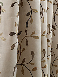 cheap -Rod Pocket Grommet Top Tab Top Double Pleat Pencil Pleat One Panel Curtain Modern Designer European Neoclassical Country, Print & Jacquard