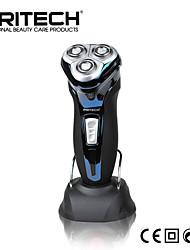 Недорогие -Новый бренд pritech аккумуляторная электрическая бритва борода бритву мужская аккумуляторная 3d глава водонепроницаемый электрический