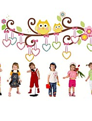 hibou stickers muraux pour les chambres d'enfants zooyoo1007 bricolage pvc animaux stickers muraux chambre de bébé décorations pour la