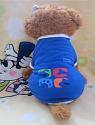 preiswerte -Hund T-shirt Hundekleidung Geometrisch Blau Kostüm Für Haustiere