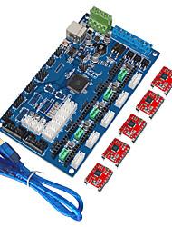 """Недорогие -""""Кейс 3D-принтер платы управления MKS поколения v1.2, USB линии (a4988)"""""""